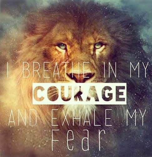 Breath in Courage Lion